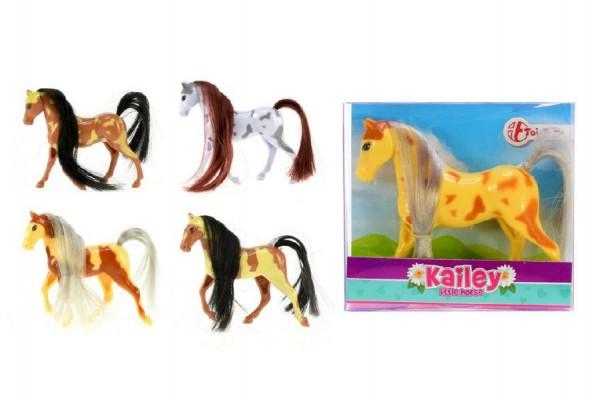 Kůň česací malý plast 10cm asst 6 barev v krabičce