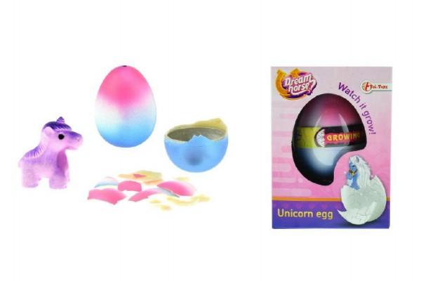 Jednorožec líhnoucí a rostoucí z vajíčka 6cm v krabičce v 12 ks v boxu