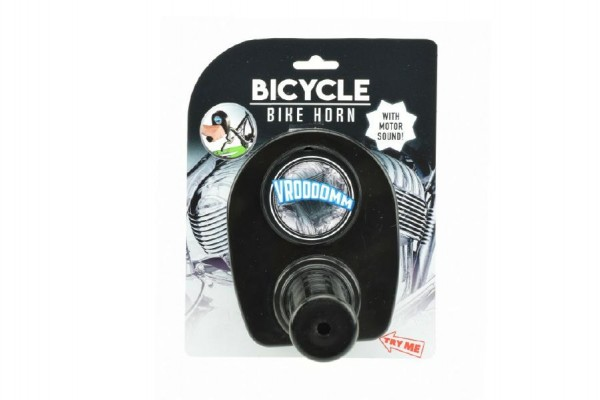 Řídítko motorka se zvukem na kolo plast 13cm na kartě