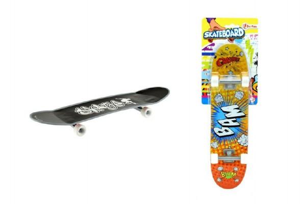 Skateboard prstový maxi plast 27cm asst 3 barvy na kartě