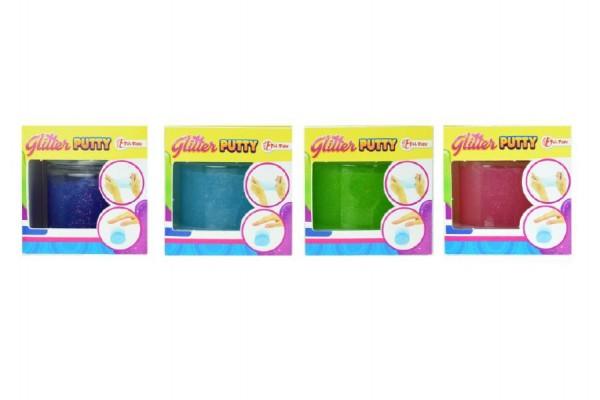 Hmota/modelína 170g inteligentní třpytivá glitter 8cm asst 3 barvy v plastové krabičce