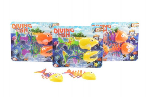Ryby potápěcí plast 2ks 15cm asst 4 barvy na kartě