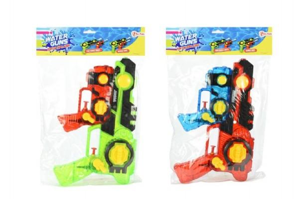 Vodní pistole plast 2v1 26cm asst 3 barvy v sáčku
