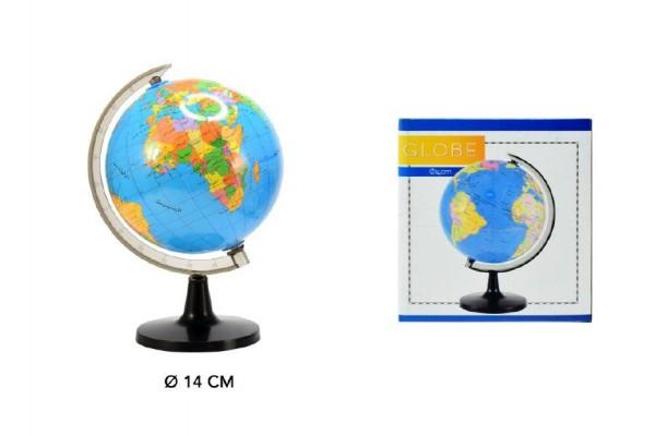 Globus/politická mapa plast 14cm v krabici