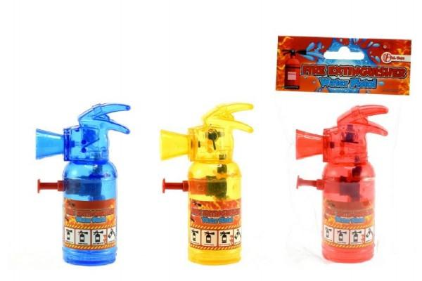 Vodní pistole hasící přístroj plast 11cm asst 3 barvy v sáčku