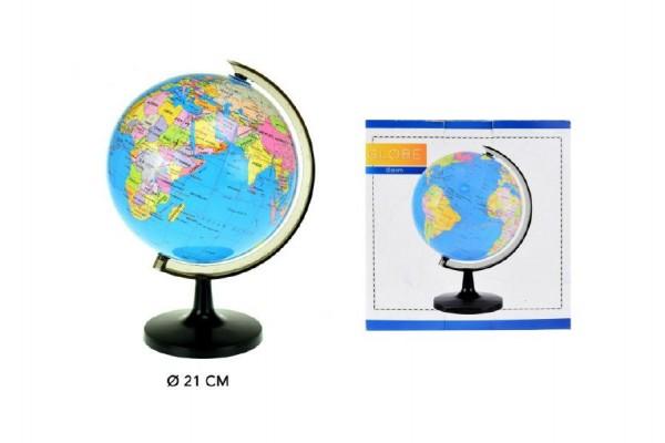 Globus/politická mapa plast 21cm v krabici