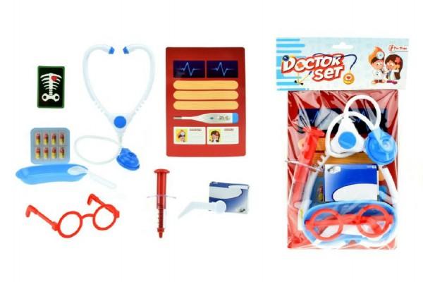 Sada doktor/lékař s doplňky plast v sáčku 17x30x3cm
