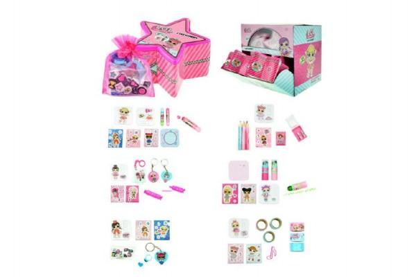 Sada s překvapením L.O.L. pro holky školní potřeby v krabičce 10x6x10cm 12ks v boxu