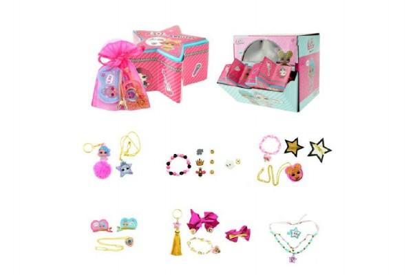 Sada s překvapením L.O.L. pro holky šperky a doplňky v krabičce 10x6x10cm 12ks v boxu