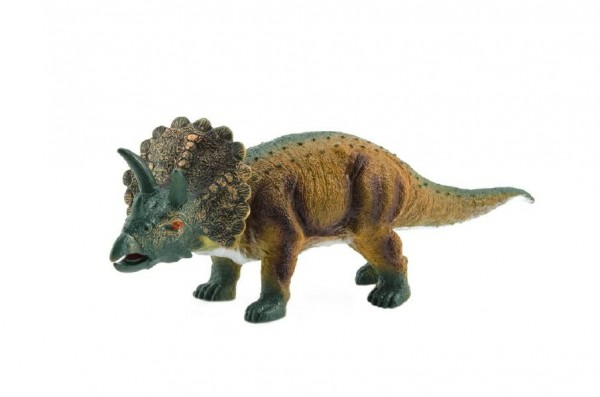 Dinosaurus měkčený triceratops plast 40cm