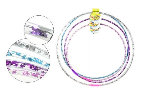 Hula Hop obruč plast průměr 65 - 85cm na baterie se světlem asst 4 barvy a velikosti
