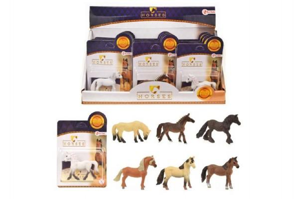Kůň malý plast 6cm asst mix druhů 12ks v boxu
