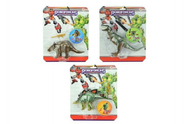 Transformer dinosaurus/robot plast 22cm asst 3 druhy na kartě