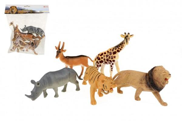 Zvířata safari plast 11-15cm 5ks v sáčku