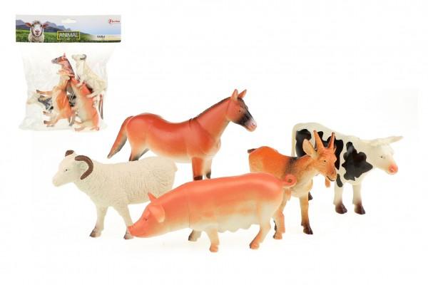 Zvířata farma plast 11-16cm 5ks v sáčku