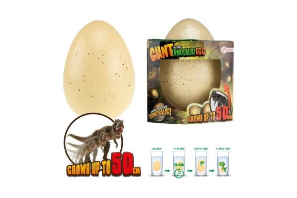 Vejce maxi líhnoucí a rostoucí dinosaurus plast 20cm, dorůstá až 50cm v krabičce 17x16x15cm