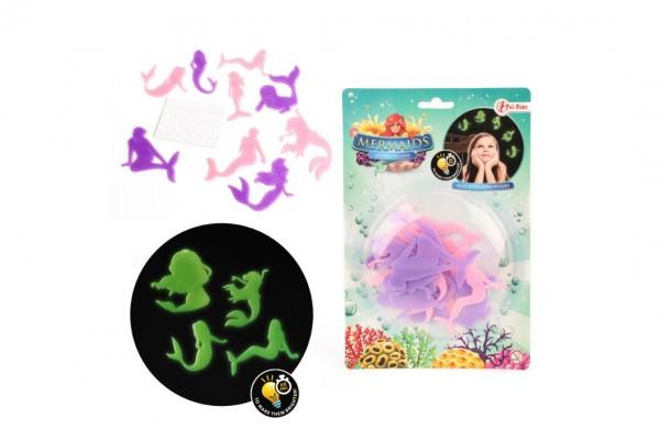 Mořské panny barevné plast svítící ve tmě na kartě
