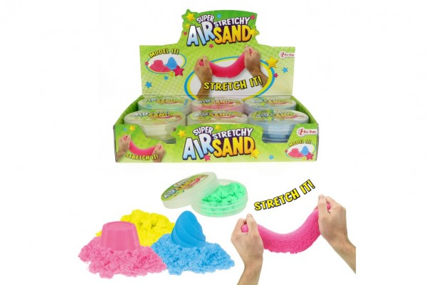 Kouzelný písek pomalu tekoucí tvořivá tvarovací hmota sliz 50g 4 barvy v plast.krabičce 12ks v boxu
