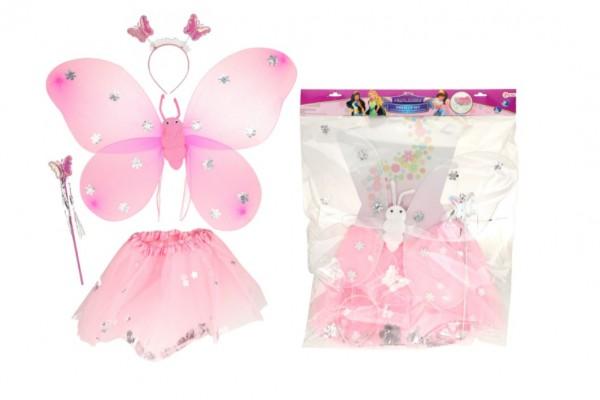 Kostým karnevalový princezna/víla 2 barvy v sáčku karneval