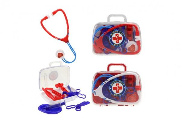Sada doktor/lékař plast 2 barvy v plastovém kufříků 17,5x15x5cm