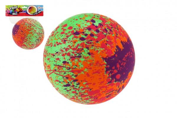 Míč barevný guma průměr 23cm v síťce