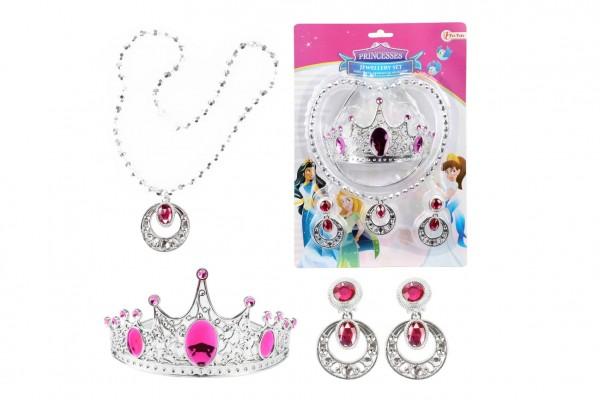 Sada krásy plast korunka,náhrdelník, naušnice na kartě 20x28x5cm