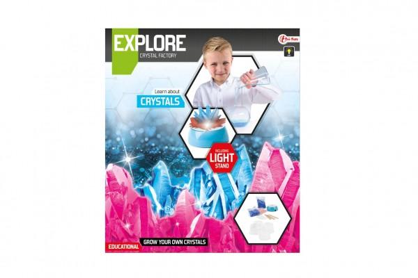 Výroba krystalů vědecká hra se stojánkem na baterie v krabici 27x31x7cm