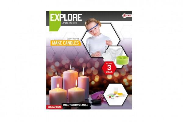Výroba svíček vědecká hra s formičkami v krabici 27x31x5cm