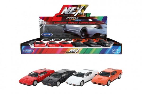 Auto Welly BMW M1 kov/plast 12cm 4 barvy na zpětné natažení 12ks v boxu