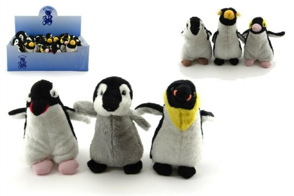 Tučňák plyš 12cm asst 6 druhů 24ks v boxu