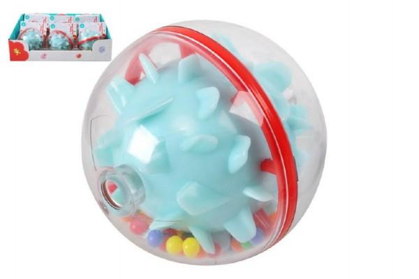Chrastítko koule plast 7cm 9ks v boxu 6m+