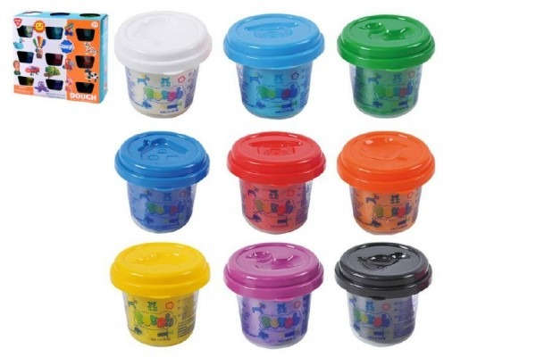 Modelína/Plastelína v kelímku 9x56g mix barev v krabici 19x17x7cm