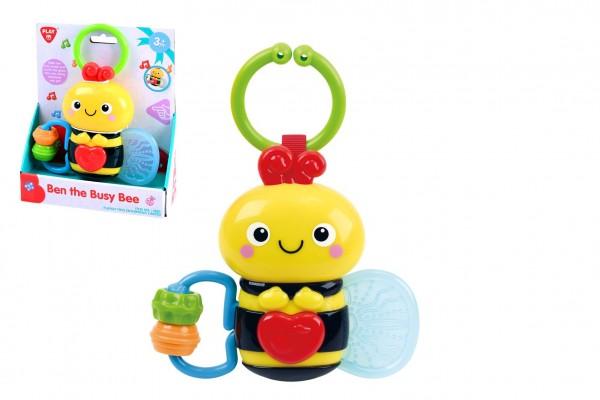 Závěs hrající pilná včelka Ben plast na baterie se zvukem se světlem v krabici 15x18x5,5cm 3m+