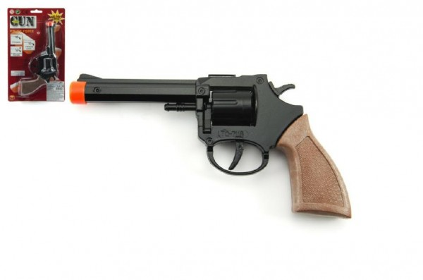 Pistole na kapsle 8 ran kov 18cm na kartě