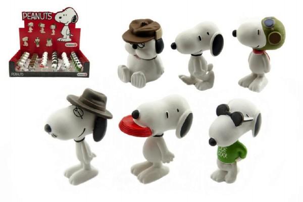 Snoopy figurka plast 5cm asst 6 druhů 32 ks v boxu