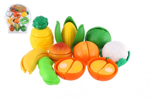 Krájecí ovoce a zelenina plast 28ks na blistru 32x34x8cm