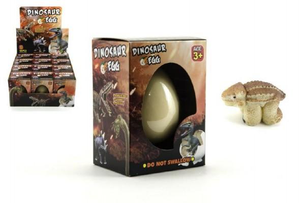 Dinosaurus líhnoucí a rostoucí z vajíčka v krabičce 8x10cm 12ks v boxu