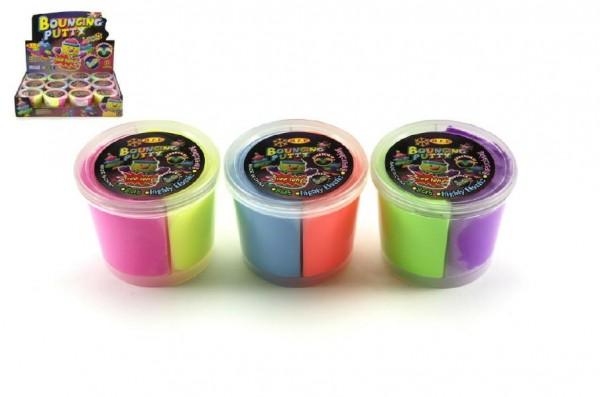 Sliz - Hmota hopíková skákací v kelímku 7x5cm asst 3 barvy 12ks v boxu