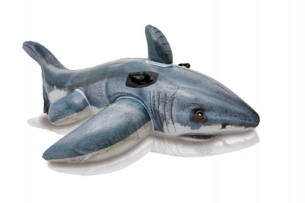 Lehátko žralok bílý s úchyty nafukovací 173x107cm