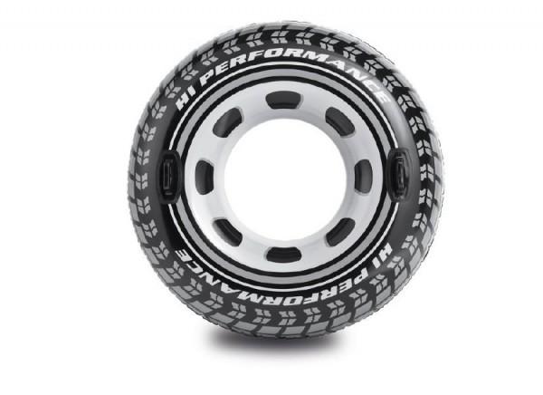 Kruh pneumatika nafukovací s úchyty 114 cm v krabici 9+