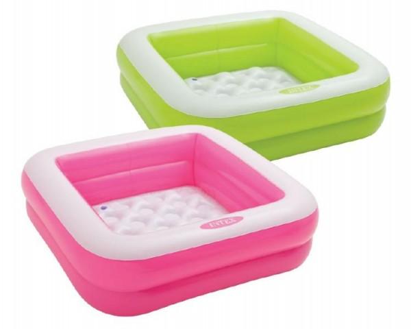 Bazén nafukovací čtvercový 85x85x23cm 2 komory v krabici