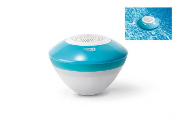 Bazénový vodotěsný reproduktor s led světlem a bluetooth plast dosah 30m