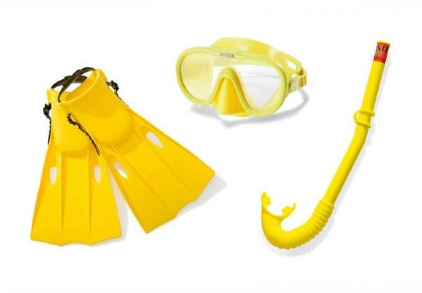 Potápěčská sada brýle+šnorchl+ploutve 8+ 53x21x8cm