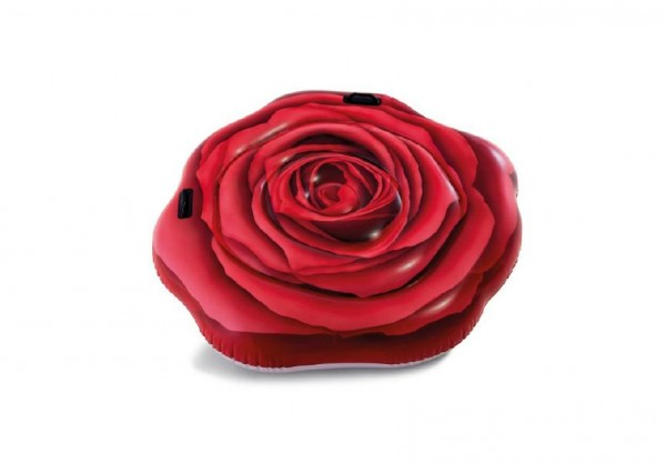 Lehátko červená růže s úchyty 137x132cm v krabici