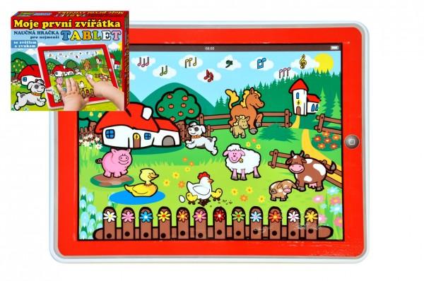 Tablet farma pro nejmenší Moje první zvířátka 24x19x1,5cm na bat. se světlem a zvukem v krabičce MPZ