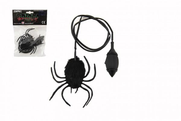 Pavouk skákající plyš/plast 7cm v sáčku 14x19x3cm