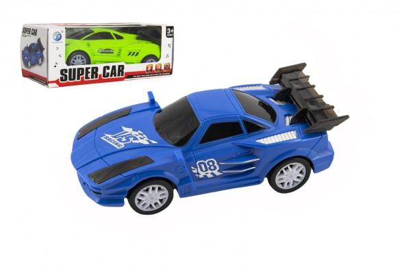 Auto narážecí plast 17cm na baterie se zvukem se světlem 2 barvy v krabičce 17,5x6,5x7,5cm