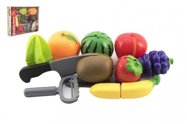 Ovoce krájecí plast se struhadlem s nožem se škrabkou v krabici 30x24x6cm