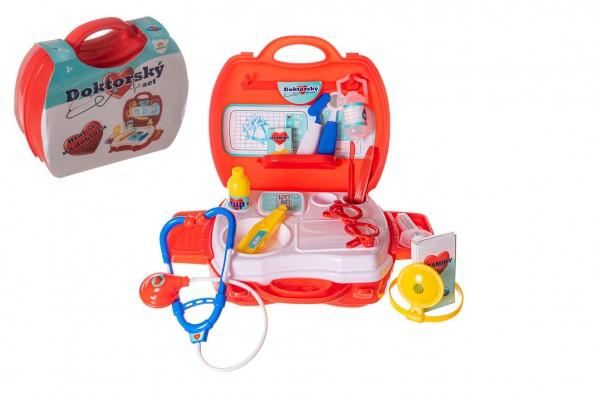 Sada doktor/lékař plast v plastovém kufříku 24x22x9cm v sáčku
