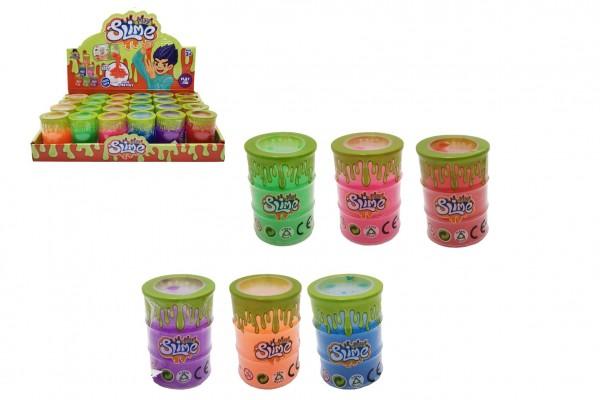 Sliz - hmota v barelu 4,5x6,5cm mix barev 24ks v boxu